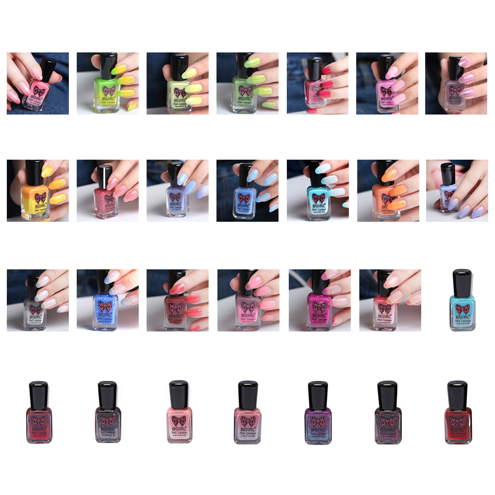 Gel Temperature Color Change Nail Enamel Polish Uv Led Design 11ml