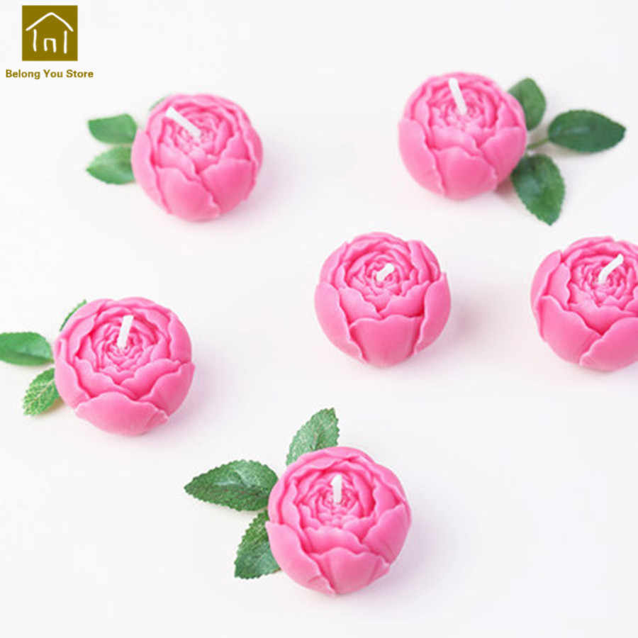 Wedding Flowers Candles Decoration Creative Bougie Mariage Velas Making Candle Happy Birthday Party Candle Night Light JKK240