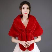 women Faux fox fur grass shawl long large fur shawl thick scarf imitated fox fur cape winter women warm fur pashmina