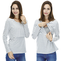 Maternity Nursing top Long Sleeve Cotton Breastfeeding Clothes Maternity Clothes for Pregnant  Women casual feeding