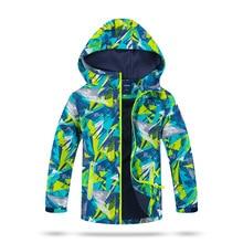 방수 색인 5000mm 방풍 아동 코트 소년 소녀 자켓 따뜻한 어린이 겉옷 3 12 세