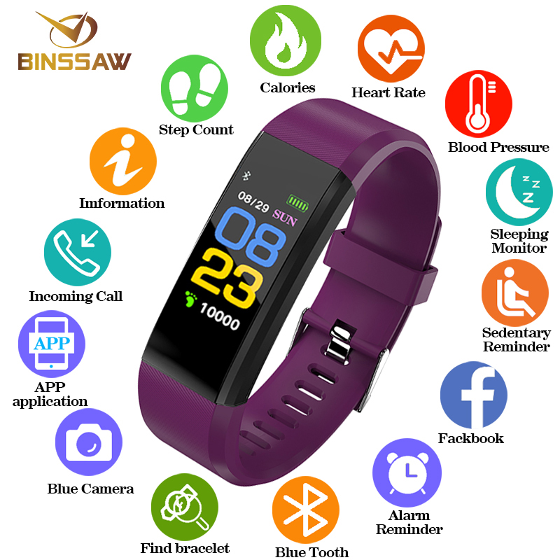 Watches Fashion Style Bluetooth Sport Smart Bracelet Women Men Children Digital Watch Waterproof Clock Heart Rate Blood Pressure For Android Ios