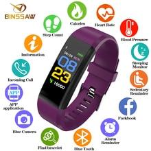 BINSSAW часы Для женщин Для мужчин Малыш Мода Smart Монитор сердечного ритма крови Давление Фитнес трекер умные часы для ios android