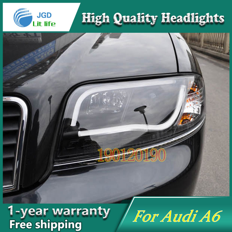 JGD Brand New Styling for Audi A6 LED Headlight 1997-2004 Headlight Bi-Xenon Head Lamp LED DRL Car Lights jgd brand new styling for audi a3 led headlight 2008 2012 headlight bi xenon head lamp led drl car lights