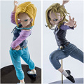 Caja Original Lazuli Banpresto Android 18 Dragon Ball Figuras de Acción 17 cm PVC Dragonball Colección de Juguetes Modelo Regalo de Los Cabritos