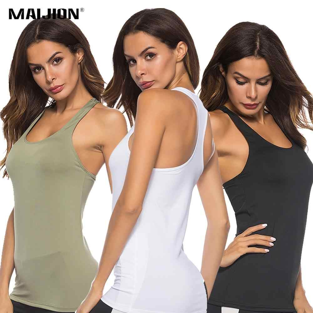 S-2XL Plus Size Sleeveless Yoga Shirts Racerback Yoga Sport Vest For Women Slim Running Fitness Tank Top Workout Sportswear