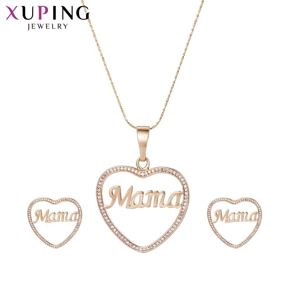 Предложения 11,11 Xuping элегантный сердце картины новый Ювелирные наборы с окружающей среды Медь для Для женщин День матери best подарок M53-60046