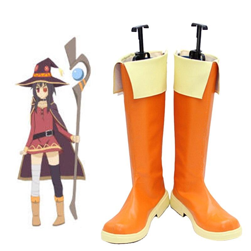 Новинка; обувь для костюмированной вечеринки Kono Subarashii Sekai ni shukufku wo Megumin; обувь в стиле аниме на заказ