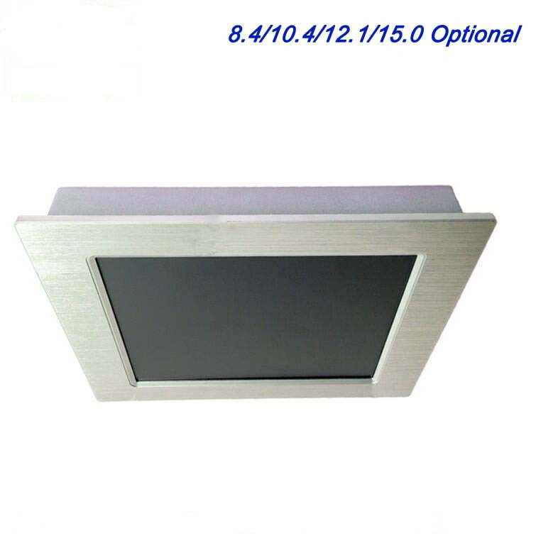 Factory Low Price 12 Inch Embedded Ip65 FANLESS Touch Screen Industrial Panel Pc With CPU Intel Atom N 2800 1.86Ghz