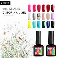 BUKAKI Color Gel Lacquer Shiny Color UV Gel Nail Polish Lucky Colorful Neon UV Gel Polish
