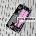 Para iphone 5s full metal asamblea vivienda volver cubierta de la puerta posterior de la batería caso preensamblado mediados marco medio del bisel completo
