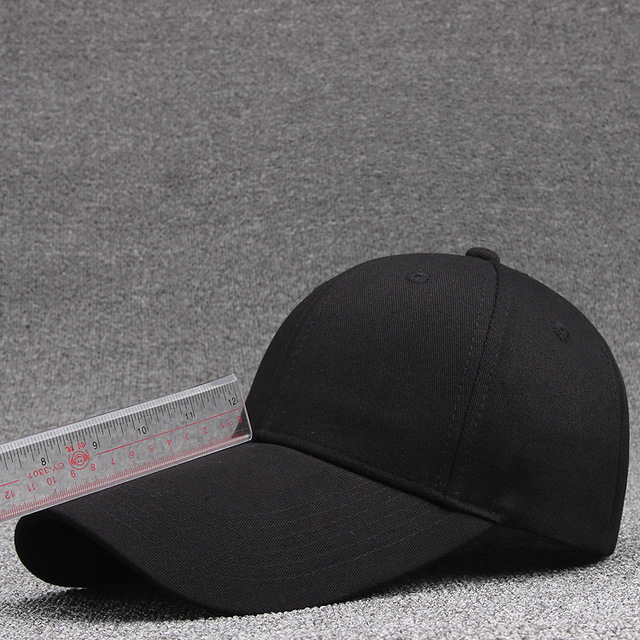 Extended 11CM baseball cap visor cotton solid blank golf hats wholesale and  peaked cap a2d34fa6119