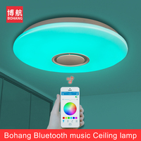 LED Bluetooth Ceiling Light 24W 36W Music Smart Remote Mobil Phone Control Room Dimmable Eye Protective