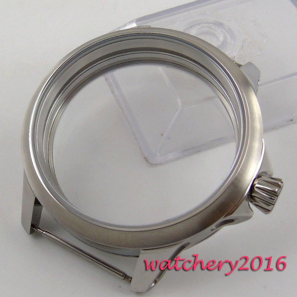 ใหม่ล่าสุด 45 มม.แปรง 316L สแตนเลส Scratch proof top top ยี่ห้อ Luxury นาฬิกากรณีพอดี 6498 6497 การเคลื่อนไหว-ใน null จาก นาฬิกาข้อมือ บน AliExpress - 11.11_สิบเอ็ด สิบเอ็ดวันคนโสด 1