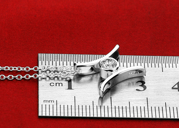 925 Sterling Silver Necklace Women's Fashion Zircon Inlaid Letter Pendant Design Solid Silver Necklace Lady Fashion Jewelery 2