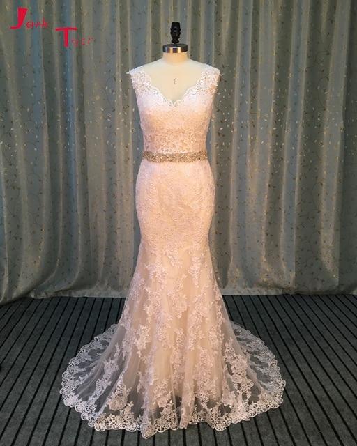 Jark Tozr Vestido De Noiva Off the Shoulder Button Back White Appliques  Luxury Sheath Bride Wedding d5e777068bed