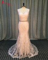 Jark Tozr Vestido De Noiva Off the Shoulder Button Back White Appliques Luxury Sheath Bride Wedding Dresses 2018 Brautkleid