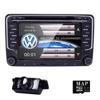 2Din Car Stereo Radio 7 Inch HD 800 480 Screen Car DVD GPS For VW Passat