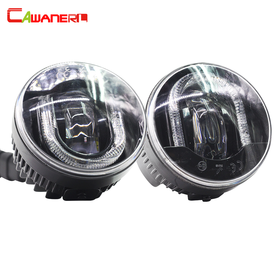 Cawanerl For Renault Duster Megane Scenic Sandero Stepway Master Grand Scenic Car LED Fog Light DRL Daytime Running Lamp 2 Piece сетка на решетку радиатора renault sandero