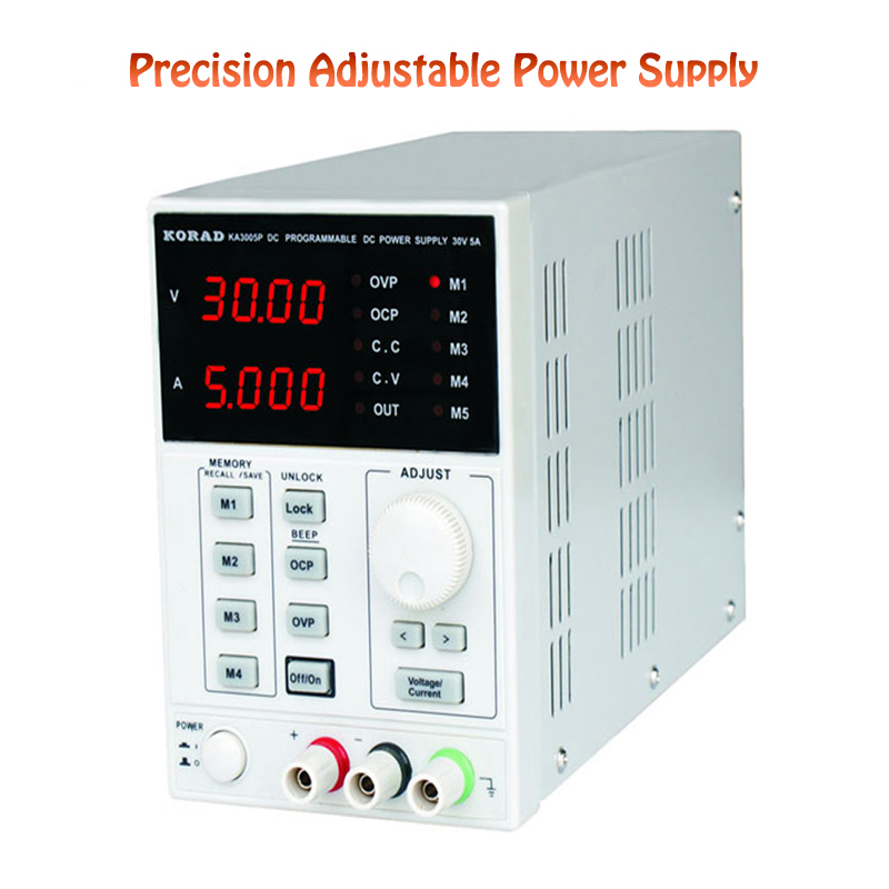 KA6005D Precision Variable Adjustable Power Supply 60V, 5A DC Digital Control Power Supply Regulated Lab Grade