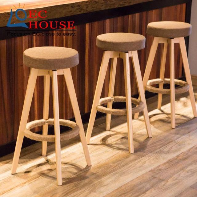 Wood chairs are вращающихся простые высокие ноги стул домой барный стул БЕСПЛАТНАЯ ДОСТАВКА