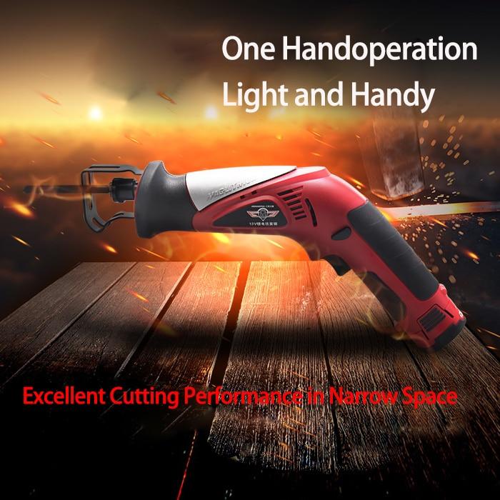 Haphaestus 12 V scies alternatives portatives lithium-ion scie sabre Portable sans fil outils électriques scie sauteuse