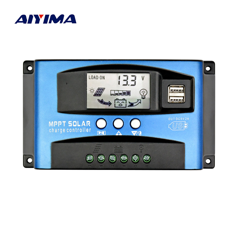 AIYIMA 60A 30A MPPT Intelligent Solar Controller 12V 24V Auto Focus Solar Panel Battery Cells Regulator Charger for Home Use PVAIYIMA 60A 30A MPPT Intelligent Solar Controller 12V 24V Auto Focus Solar Panel Battery Cells Regulator Charger for Home Use PV