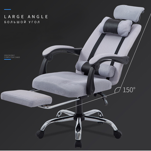 Office Computer Chair in Furniture Lifting Reclining Gaming Revolving Footrest High Back Ergonomic Armchair 1
