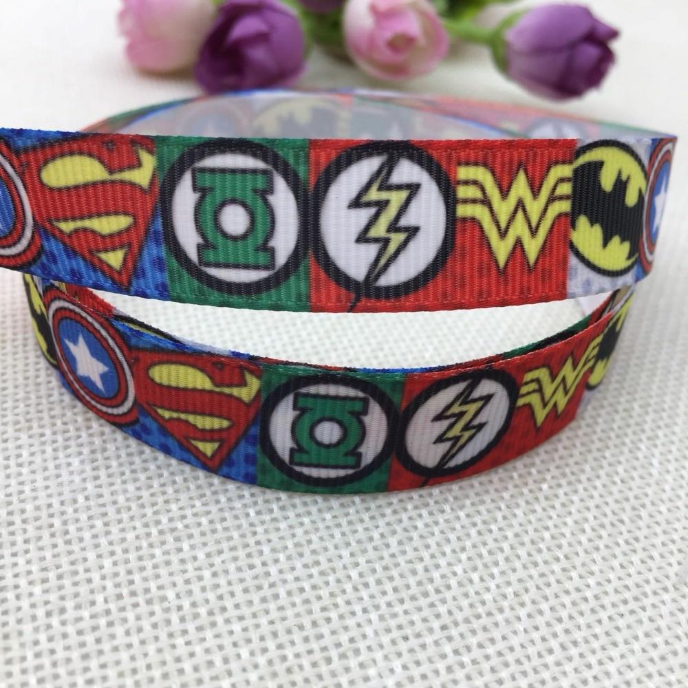 16 мм Новинка Бесплатная доставка Супермен печатный корсажная лента hairbow diy украшение для вечерние оптовая продажа