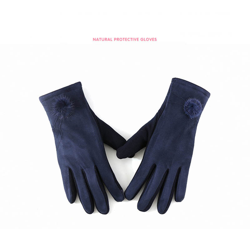 Winter Windproof Touch Screen Gloves for Female made of Cashmere Suede Leather Allows to Use Touch Screen Device Freely 6