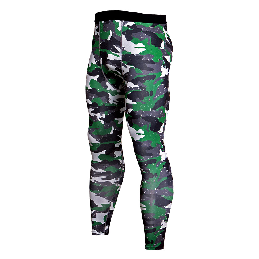 Men Compression Camoflage Sportswear Pants Mens Trainning Exercise Fitness MMA Gym Male Sport Running MMA Gym BodyBuilding Pants
