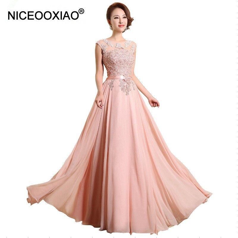 NICEOOXIA0 robe de soirée en mousseline de soie perles broderie sans manches femmes robes formelles robes de soirée élégante longue robe de bal