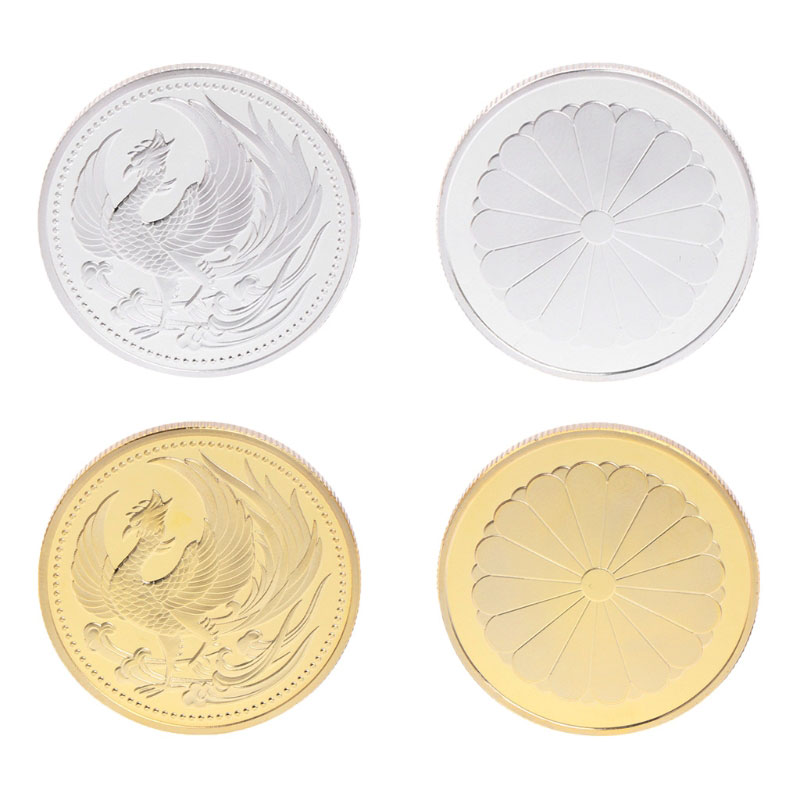 Commemorative Coins Japan Phoenix Gold Silver Collection Gift Souvenir Crafts Arts Drop Shipping Support