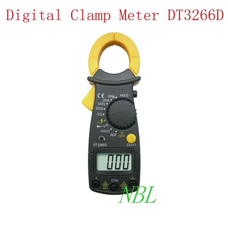 Multifunction Digital Clamp Meter 3 1/2 LCD Handheld Accuracy AC/DC 200A Current 600V Voltage Resistance Tester DT3266D  цены