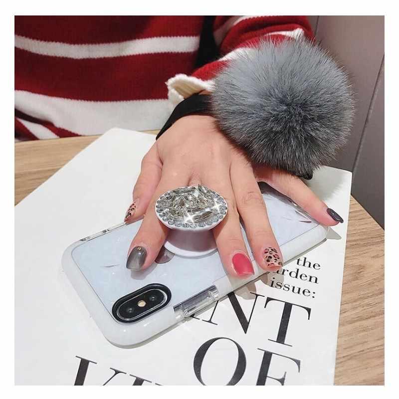 キックスタンド毛皮ボールソフト耐震 Tpu tpe カバーケース iphone XS 最大 XR 6 6 S 5 SE 5 S 5 グラム SE 7 8 S x プラス 6 プラス 7 電話ケース s