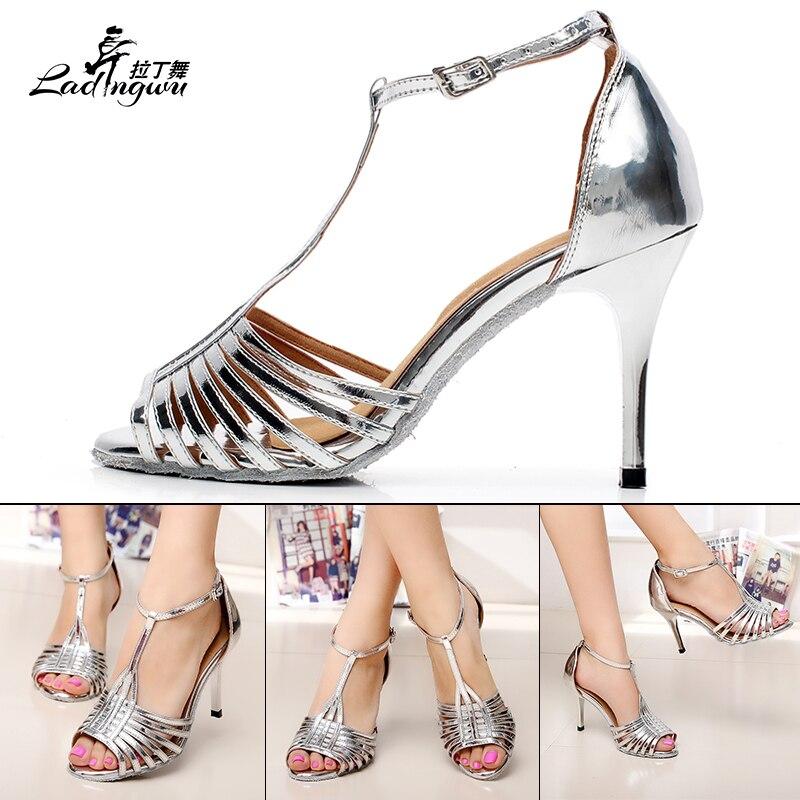 Ladingwu Hot πώλησης χρυσή / ασημένια PU - Πάνινα παπούτσια - Φωτογραφία 5