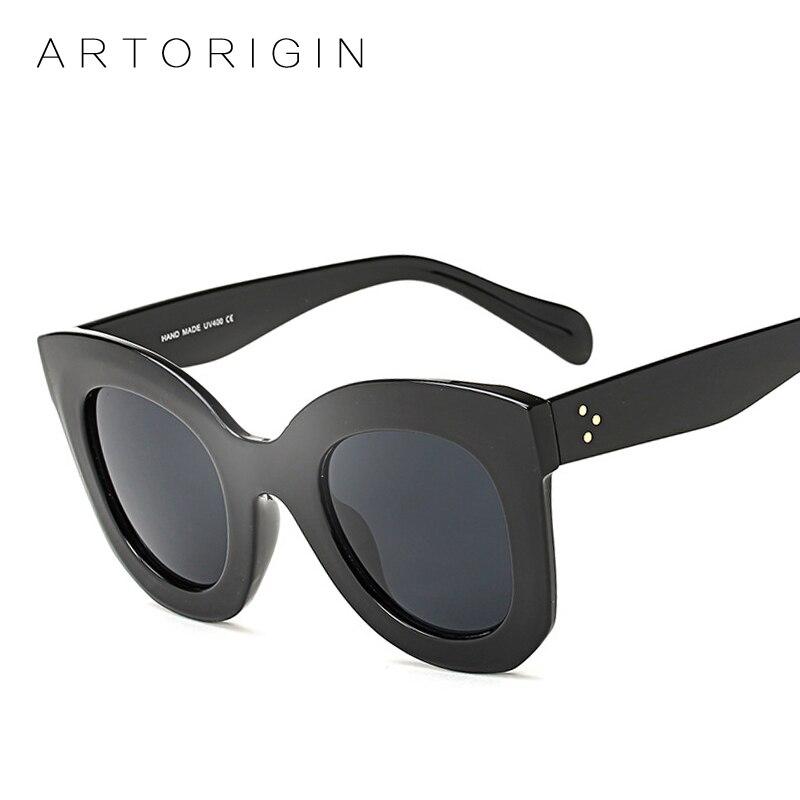 New Vintage Sunglasses Women  Lunette Femme Luxury Brand Sun Glasses For Women Cat Eye Large Frame Oculos Eyewear AO3008