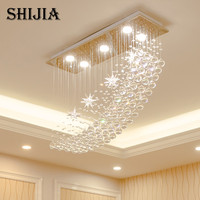 Modern LED Crystal Chandelier Lighting For Bar Lamp Bedroom Hotel Hall Ceiling Hanging Suspension Star Lamp