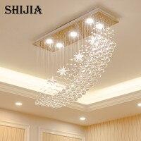 Modern LED Crystal Chandelier Lighting For Bar Lamp Bedroom Hotel Hall Ceiling Hanging Suspension Star Lamp