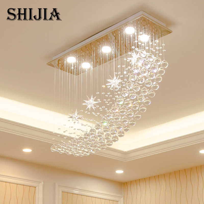 Modern LED Crystal Chandelier Lighting for Bar lamp Bedroom Hotel Hall Ceiling Hanging Suspension Star Lamp Warm and romantic Chandeliers     - title=