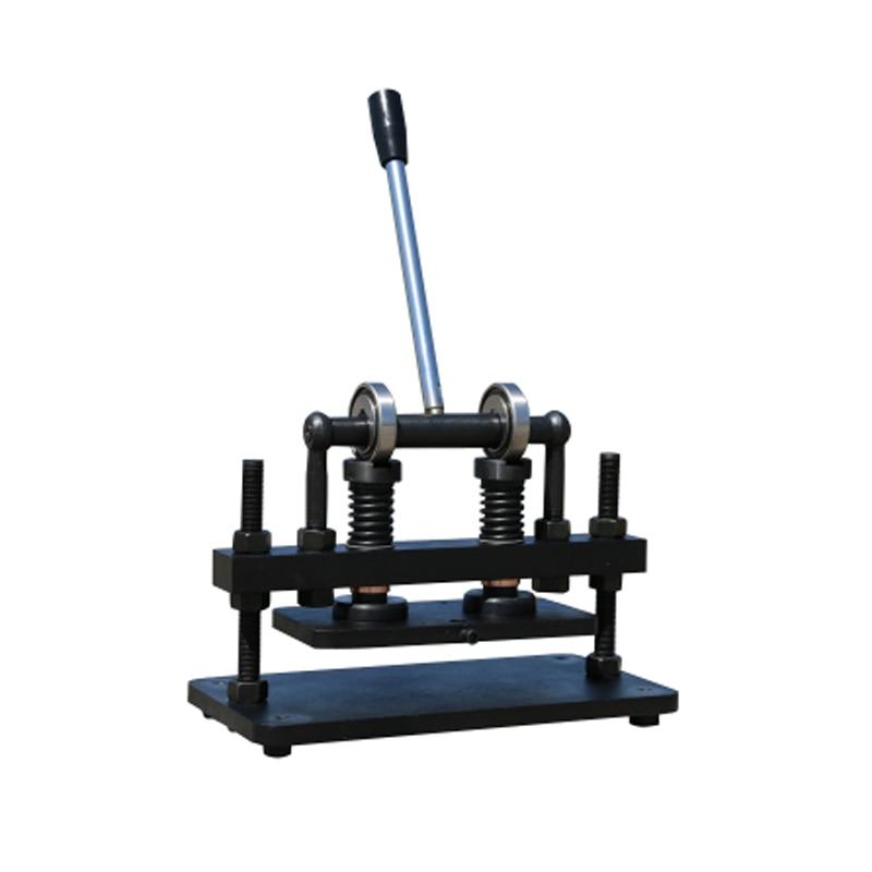 Double roue main cuir modèle machine de découpe papier photo PVC/EVA feuille moule coupe cuir machine de découpe 26x12 cm