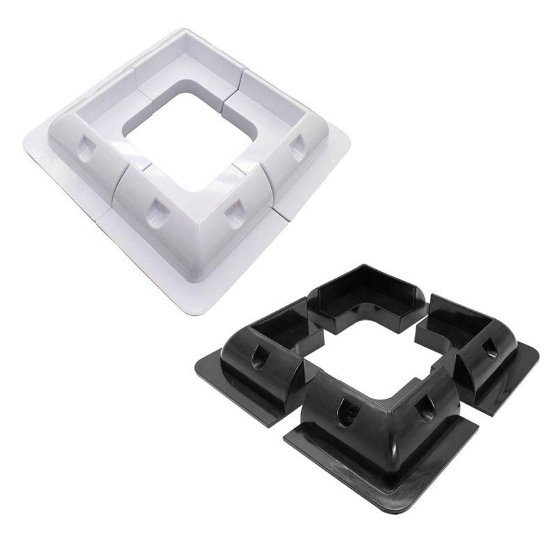 4Pcs ABS Edges Solar Panel Mounting Brackets Black White Corner Set Kit For RV Caravan Yacht Solar Panel