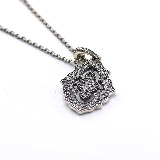 Compatible with European Style Necklaces Jewelry 925 Sterling Silver Pendant With Cubic Zirconia Charms Original DIY Wholesale