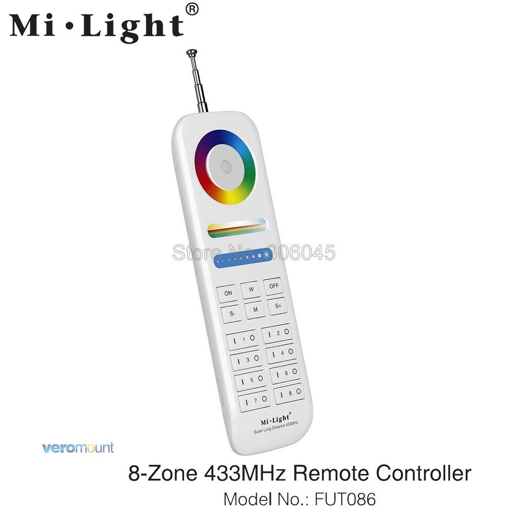 Miboxer FUT086 controlador remoto de 8 zonas de 433MHz para Miboxer serie 433MHz RGB + CCT luz LED subacuática Cámara de acción deportiva para exterior, Mini cámara subacuática, impermeable, pantalla de múltiples colores, resistente al agua, grabación de vídeo