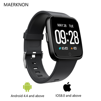 MAERKNON Y7 New smart watches men's sports watches heart rate sphygmomanometer step color screen calls to remind IP67 waterproof