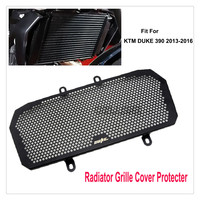 Black Motorcycle Accessories Radiator Guard Stainless Steel Protector Grille Grill Cover Fit For KTM DUKE 390
