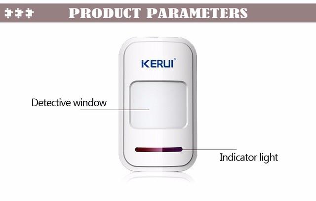 Беспроводной pir датчик движения kerui p819 3 шт/лот 433 МГц
