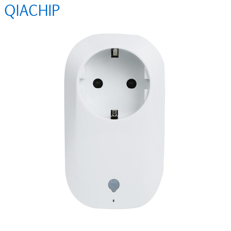 цена на White EU Plug Universal Wireless Smart WiFi Socket Switch Led Remote Control Socket Outlet Timing Switch Smart Home Automation