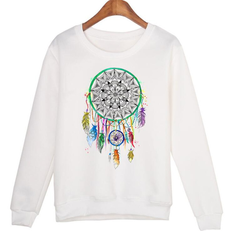 Fashion Lady 3D Dreamcatcher Pattern Print Long Sleeve Turtleneck Sweater ...
