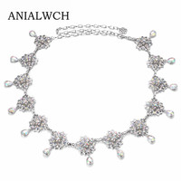 Female Color Diamond Belly Dance Metal Waist Chain 2018 Fashion Lily Flowers Decorative Pendant Wedding Belt Dresses F024